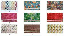 Enchanted forest fabric UK 100/% cotton material metre bird hedgehogs snails