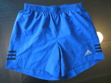 MENS ADIDAS RESPONSE BLUE LOGO STRIPED CLIMALITE SPORT SHORTS SMALL BRIEF COMFY