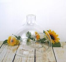 Glass bottle shape Terrarium vase lantern planter tea light holder Handmade