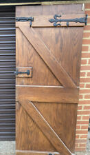 More details for ledge and brace oak doors with door furnitue