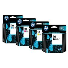 10X ORIGINAL HP10 CYAN & YELLOW COLOUR INK CARTRIDGES - SWIFTLY POSTED
