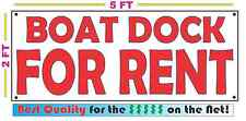 BOAT DOCK FOR RENT All Weather Banner Sign NEW High Quality! XXL Lake Yacht Club