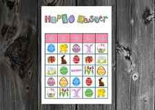 Easter Holiday Party Game Printable Bingo Cards
