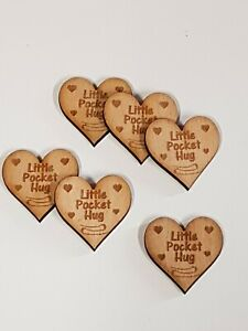 A111 Pack of 15 Little Pocket Hugs Pocket Hug  engraved love thank you