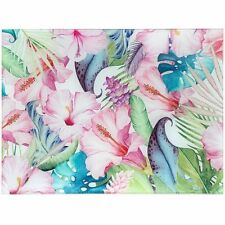 Tropical Paradise Glass Cutting Chopping Board Worktop Saver Protector