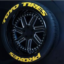 Toyo Tires Proxes Tire Lettering stickers Yellow 1,25'15'16'17'18'19'20''  8 Kit