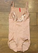 Spanx 1060 Slimmer & Shine Open Bust Bodysuit Rose Gold Sz M MEDIUM NWOT