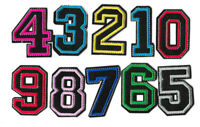 BLACK COLOUR NUMBERS 50mm Iron on / Sew on Patch Embroidered Badge Motif PT537