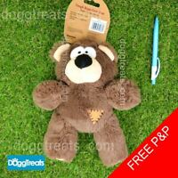 Large Plush Bear Dog Toy Tough Rope Core Squeaker Kong Wild Knots Stuffed Teddy