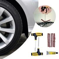 Car Tubeless Tire Reifenpannenset Reparatursatz Nadel Tools Fix Patch Erste G0G4