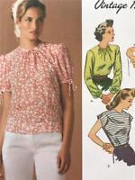 Simplicity Sewing Pattern 1692 Ladies Misses 1940's Vintage Top Size 14-22 Uncut