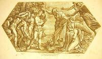 Jesus of Nazareth the Christening Baptist Bible Nicolas Chaperon 1649 Ap Raphael