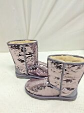 WOMEN'S 7 UGG AUSTRALIA HEATHERED LILAC PURPLE SPARKLES CLASSIC SHORT BOOTS NIB