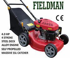 FIELDMAN 18' Self Propelled Lawn Mower Petrol 4 Blade Alloy 4 Stroke QLD Seller