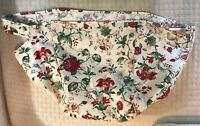 Longaberger Heirloom Floral Flowers Roses Fabric Large Oval Picnic Basket Liner