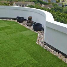 Easy Fit Artificial Grass Floor Tiles Patio Garden Hot Tub Decking Balcony DIY