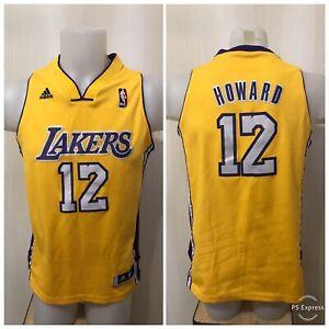 Los Angeles Lakers #12 Dwight Howard Size boys L Adidas Basketball jersey shirt