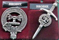 Brodie Scottish Clan Crest Pewter Badge or Kilt Pin