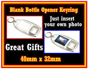 3 X NOVELTY BOTTLE OPENER KEYRINGS - PERSONALISE YOUR OWN - GIFTS / PARTY / XMAS