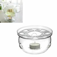 Portable Warmer Candle Holder Glass Heat Resisting Teapot Warmer Insulation Base
