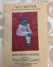 Mona Mouse  4 x 4 Critter Craft Pattern 1989