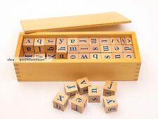 New Montessori Language Material - Alphabet Dices with Box