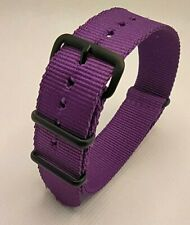 20 mm Nato Strap Correa Reloj Nylon Watch band violeta Violet purple