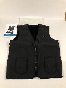Black Mobile Warming Electric Heated Vest Men's Size XL