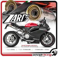 Zard Full exhaust system racing 2.1.2 stainless  Ducati 1199 Panigale 2012 12>