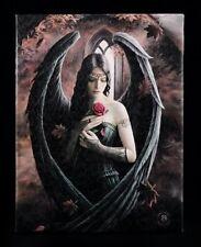 Leinwand - Engel mit Rose klein by Anne Stokes - Bild Poster Fantasy Gothic