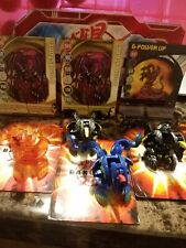 Bakugan Viper Helios Lot Of 4 With 4 Ability Cards and 2 Gate Cards
