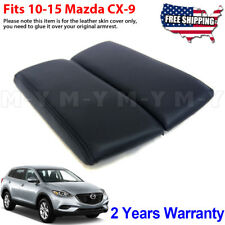 Fits 10 15 Mazda Cx 9 Center Console Lid Armrest Cover Leather Synthetic Black Fits Mazda