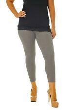 Womens Full Length Leggings Plus Size Ladies Plain Elastic Stretch Nouvelle AU 20-22 Charcoal
