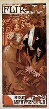 ALPHONSE MUCHA Flirt Biscuits  art nouveau giclee fine art CANVAS print