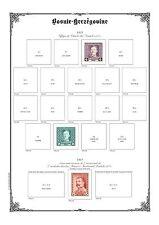 PAGES D´ALBUM - BOSNIE & HERZEGOVINE - BOSNIA & HERZEGOVINA - 1879-->1918