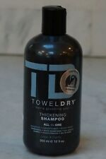 12 oz. TD Towel Dry Men's Grooming Thickening Shampoo. All-In-One. 365ml. NEW.