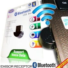 ADAPTADOR BLUETOOTH USB NANO RECEPTOR EMISOR DONGLE PC PORTATIL MINIATURA 100 M