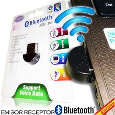 Adaptor Bluetooth USB Nano Receiver Sender Dongle PC Laptop Miniature 100 M