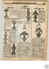 1922 PAPER AD Mammouth Store Light Fixture Juno Vestal Giant Patlor Lamp