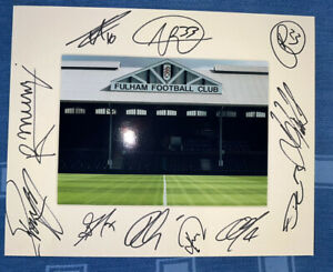 Fulham FC Hand Signed 2021/22  10x8 Photo Mount Display, COA Signed By 11 D