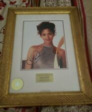 Halle Berry Framed And Matted Color Photo. Coa