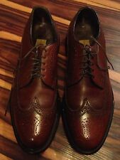 Vintage VGC Stuart McGuire Mid Brown leather Wing Tip Oxford Dress Shoe 9 1/2 2E