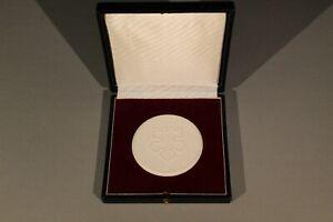 Meissen Medaille Plakette im Etui Wittenberg 450 Jahre Reformation DDR Komittee