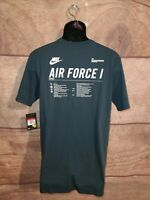 Nike Air Force 1 Tee shirt mens Large Navy blue AO3733 454 New