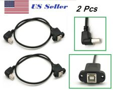 2 PCs 50cm USB 2.0 B Male to USB B Female Socket Printer Panel Mount  Cable