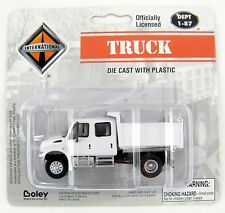 HO Scale International 2-Axle Crew Cab Dump Truck - White - Boley #4175-77