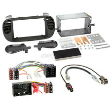 Fiat 500 312 07-15 2-DIN Car Radio Installation Set+Cable,Adapter,