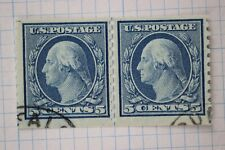 US Sc#496a small holes Coil Line pair LP used PSE certified graded 10V G50 RARE