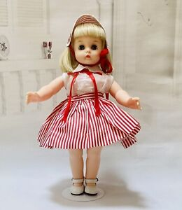 """MADAME ALEXANDER KELLY 15"""" DOLL IN VINTAGE DRESS AND HAT"""