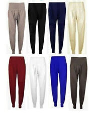 Womens Ladies New Plain Baggy Harem Pants/ Ali Baba Trousers HOT SELLER!!! S-XL